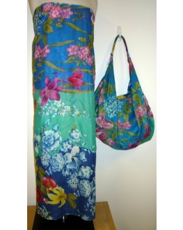 Sarong 402 Turquoise Floral