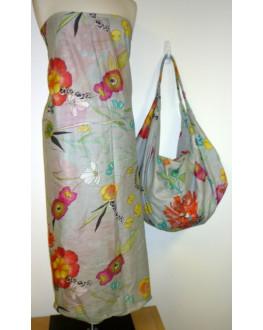 Sarong 404 Grey Floral